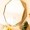 Gold Octagonal Mirror