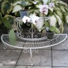 Cream Wash Finish Two Tier Wire Plant Stand