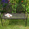 Black Cafe Folding 2 Seater Bench