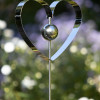 STAINLESS STEEL HEART ORNAMENT x 6 Pieces