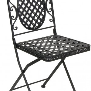 Black Cafe Folding Chair