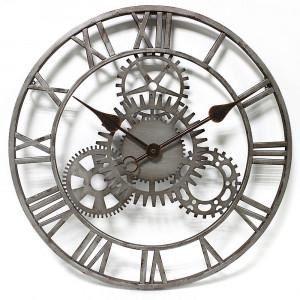 Grey and Black Cog Clock