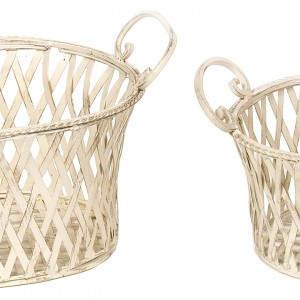 Cream Cafe set of 2 Baskets