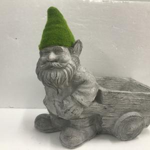 Dwarf Pulling Wheel Barrow