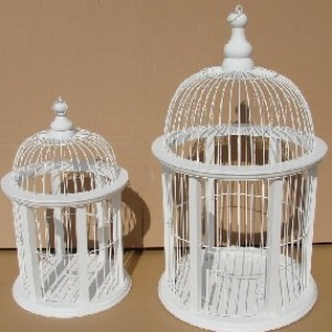 Round Bird Cages (set of two)