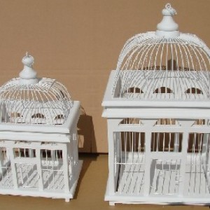 Square Bird Cage (set of two)