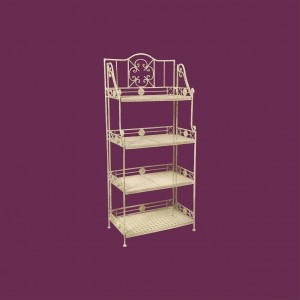 Cream 4 Tier Folding Bakers Rack