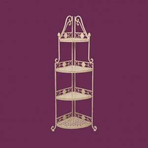 Cream Cafe 4 Tier Corner Unit - OUT OF STOCK