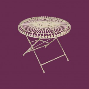 Louis Round 70cm Folding Table