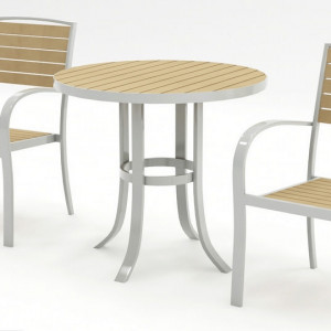Tuscan - White and beech Bistro Set
