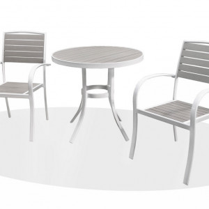 Tuscan - White and Grey Bistro Set