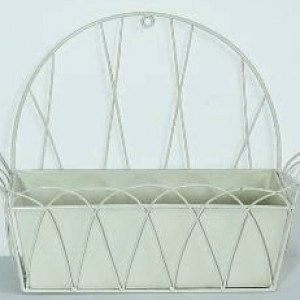 Ivory Wall Planter With Liner