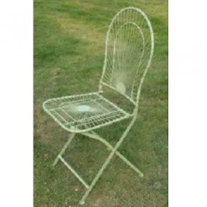 Antibe Pale Green Folding Square Backed Chair