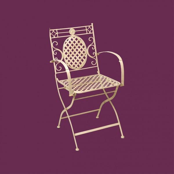 Cream Cafe Folding Carver Chair