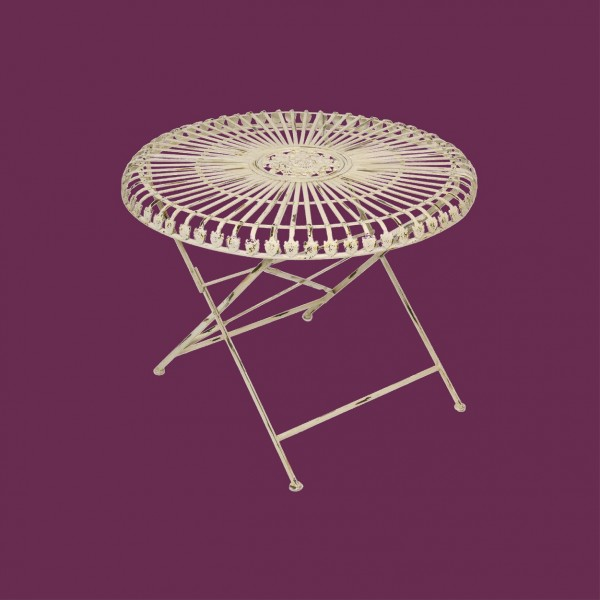 Louis Round 70cm Folding Table