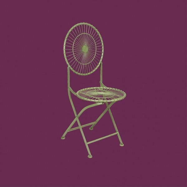 Antibe Ivory Round Folding Chair
