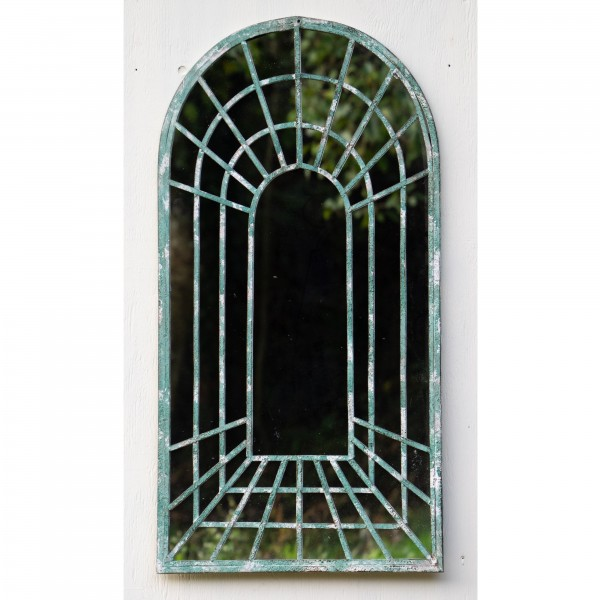 Rustic Green Garden Mirror - OUT OF STOCK