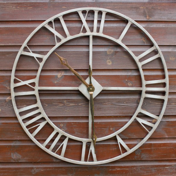 Rustic Large 76cm Outdoor Clock - OUT OF STOCK